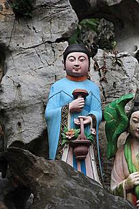 蓝采和人物雕塑