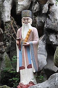 张果老人物雕塑