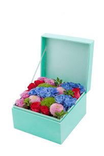 蓝色鲜花礼盒