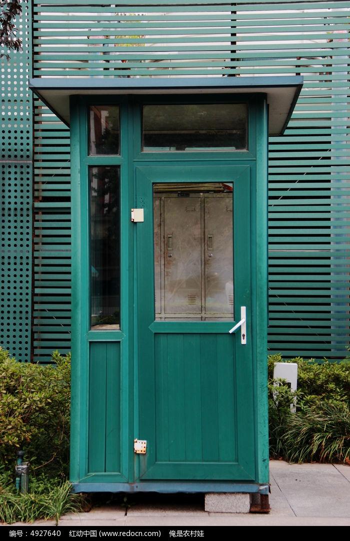 欧式绿色值班亭电话亭图片