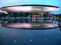 上海世博会世博文化中心倒影