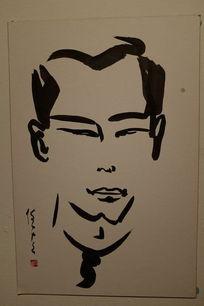 男人头像绘画