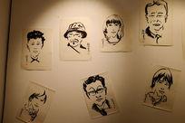 墙上的画作