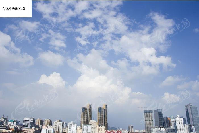 青岛楼群图片,高清大图_天空云彩素材