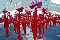 上海世博会李小龙雕像群