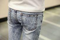 牛仔裤细节