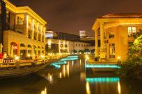 欧式建筑夜景