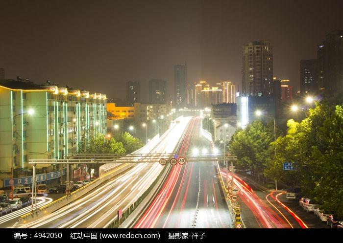 青岛交通夜景图片,高清大图_滨海建筑素材