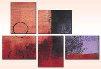 三联抽象画之无框画