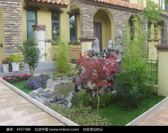 私家庭院景观  文山石