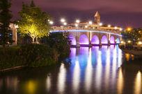 夜景桥摄影