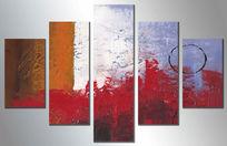 抽象油画 无框画