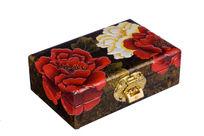 牡丹花漆器盒