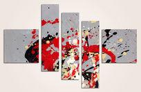 三联画 抽象涂鸦
