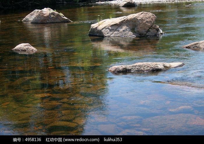 清清的河水图片 节日元素 图片 红动手机版