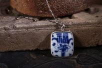 古瓷片福临门陶瓷首饰