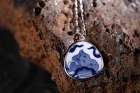 古瓷片福禄山陶瓷饰品