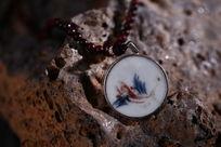 古陶瓷青花花卉