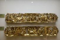 金漆木雕花板五代同堂