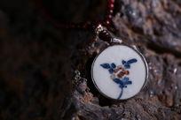明代花卉陶瓷古瓷片饰品