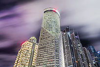 上海陆家嘴建筑夜景