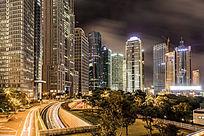 上海浦东城市建筑群