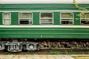 绿皮火车车厢