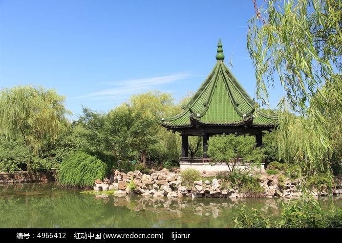 苏州园林 亭子 公园