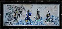 小蓬莱外墙右侧壁画神通图