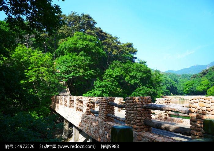 云潭景区的桥与树木图片,高清大图_森林树林素材