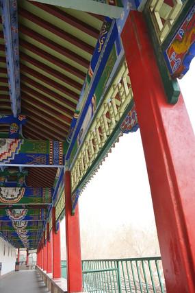古建筑寺庙走廊