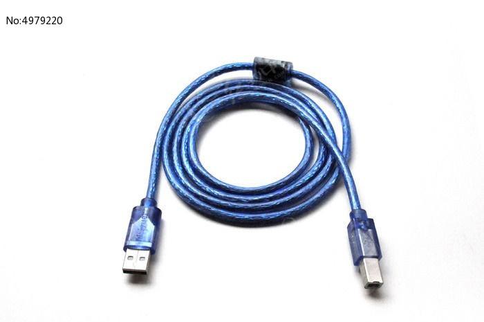蓝色透明双头公母接口数据线