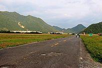 大九湖的景观大道