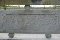 海浪桥体石刻浮雕