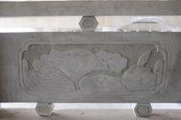 荷叶池塘桥体石刻浮雕