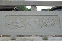 假山桥体石刻浮雕