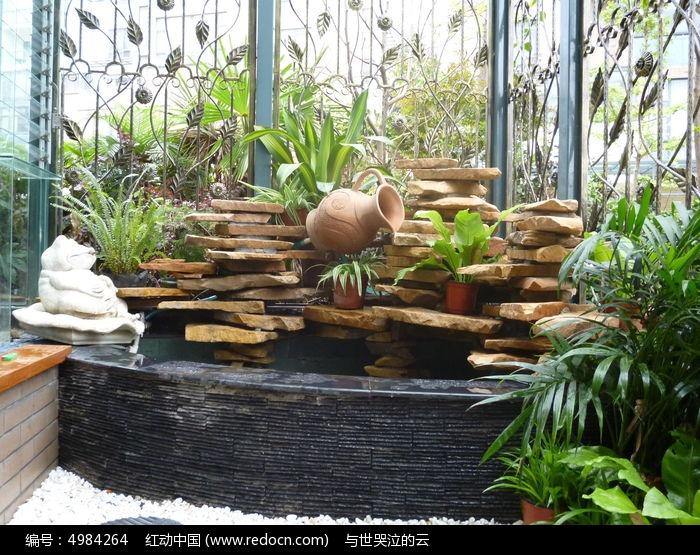 假山水池景观图片,高清大图_园林景观素材