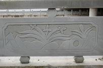 兰花与竹笋桥体石刻浮雕