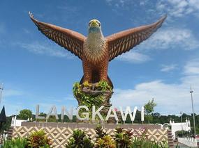 兰卡威大鹏展翅雕塑