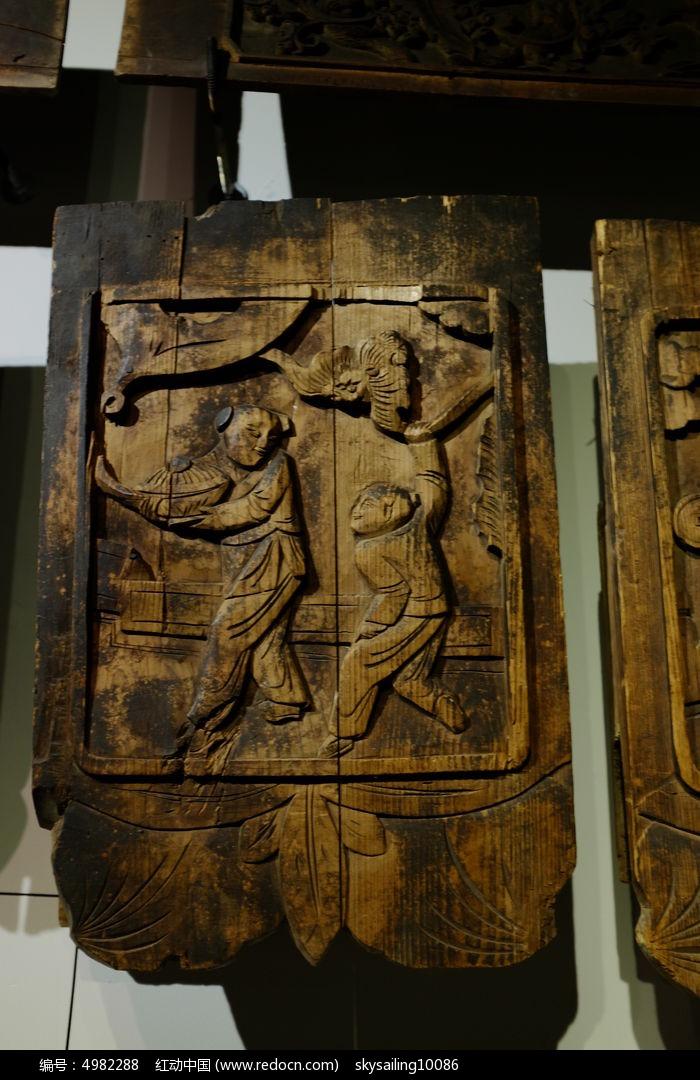 梁架木雕装饰构件右图片