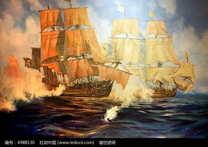 帆船油画图片,高清大图_插画绘画素材