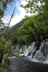 九寨沟瀑布美景