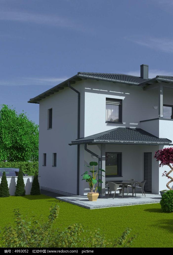 现代别墅景观图片