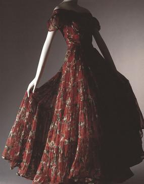 真丝印花连衣裙