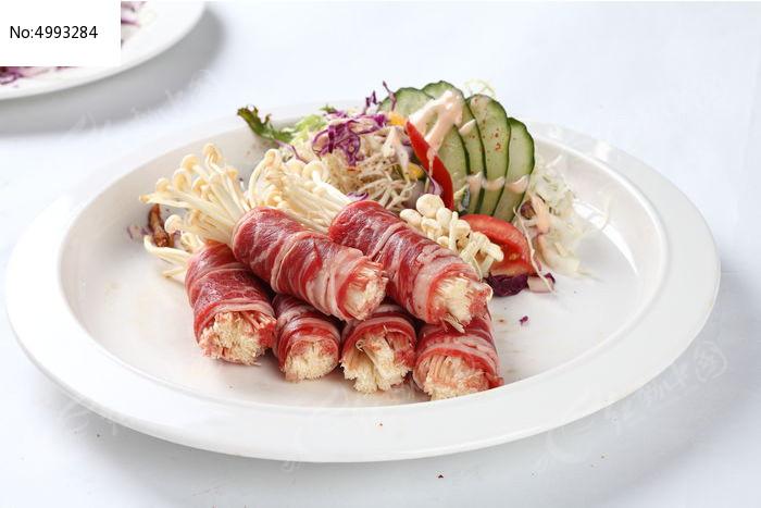 铁板烧金针菇鸡汤卷肥牛,猪肚大图_西餐图片素广东美食煲高清法图片
