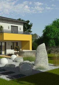 现代别墅庭院效果图片