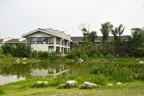 小河围绕的房子