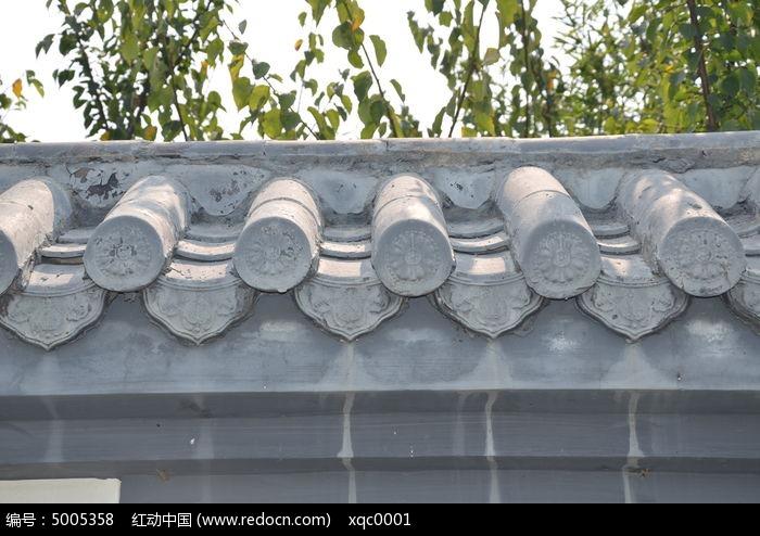 徽派建筑的瓦墙