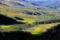 电脑抽象画《山地风光》