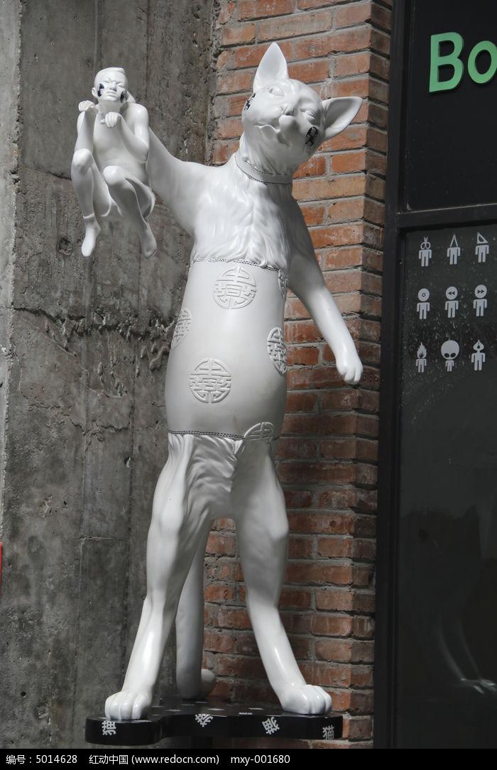 雕塑猫图片,高清大图_雕刻艺术素材